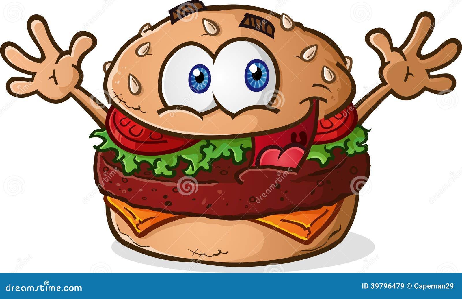 Desenhos animados do cheeseburger do Hamburger