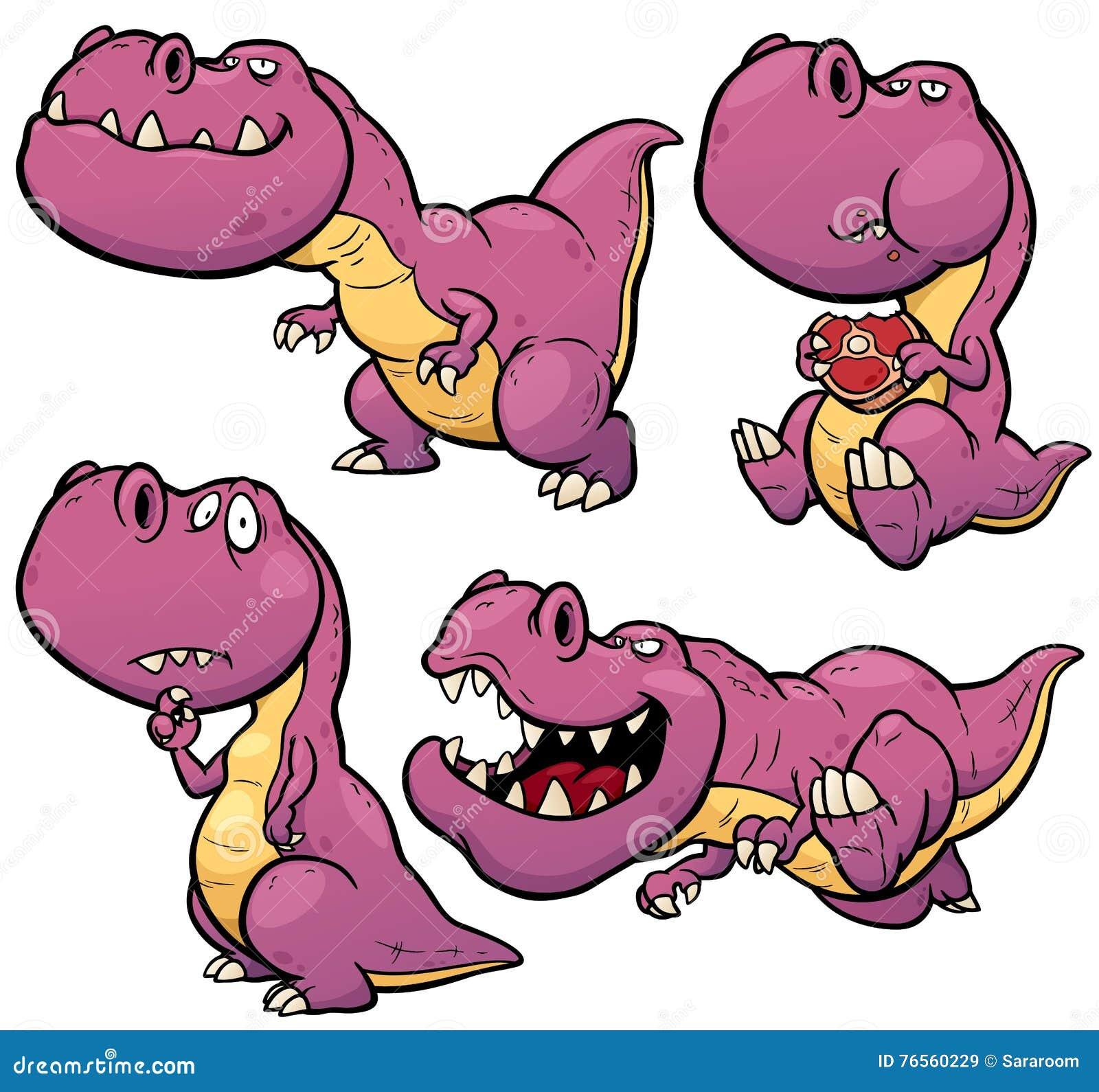 Desenhos animados do dinossauro