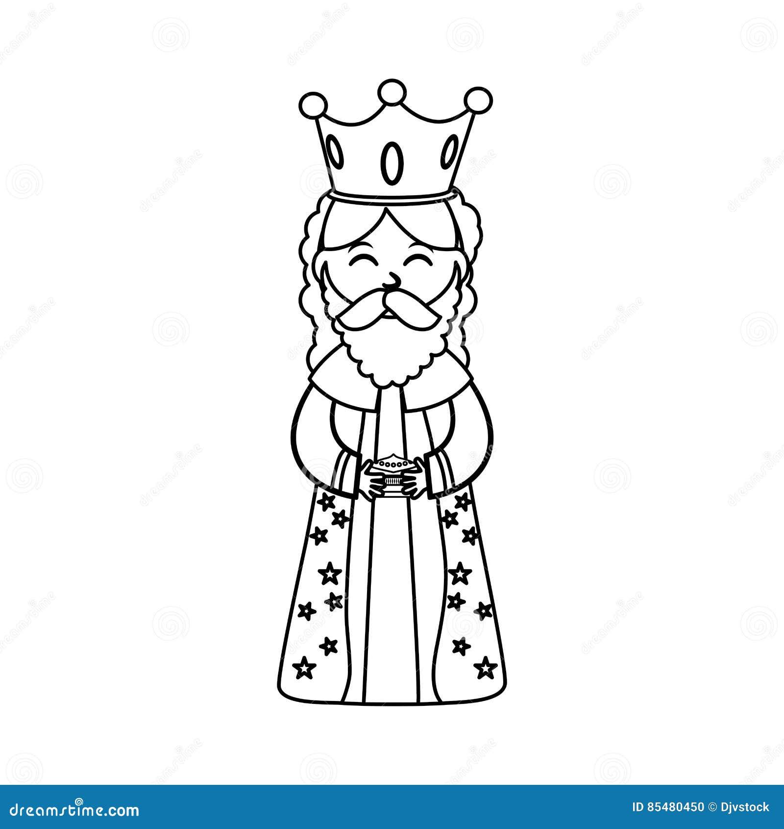 Desenhos Animados Do Homem Tres Sabio Ilustracao Stock