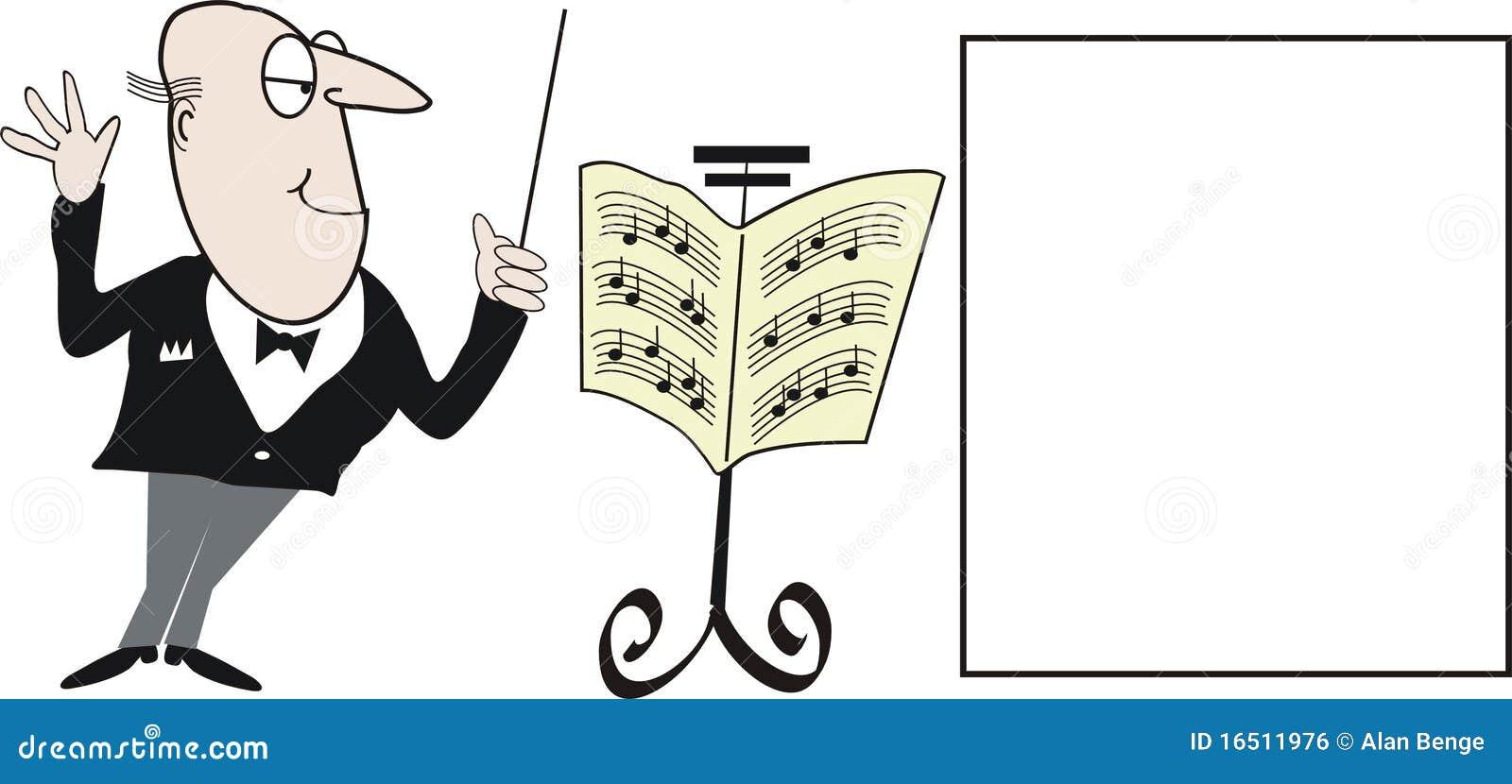 Desenhos animados do maestro