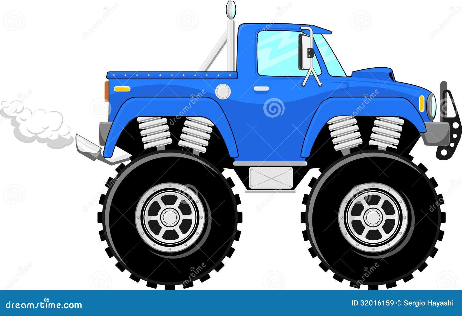 desenhos animados do monster truck 4x4 ilustração do vetor