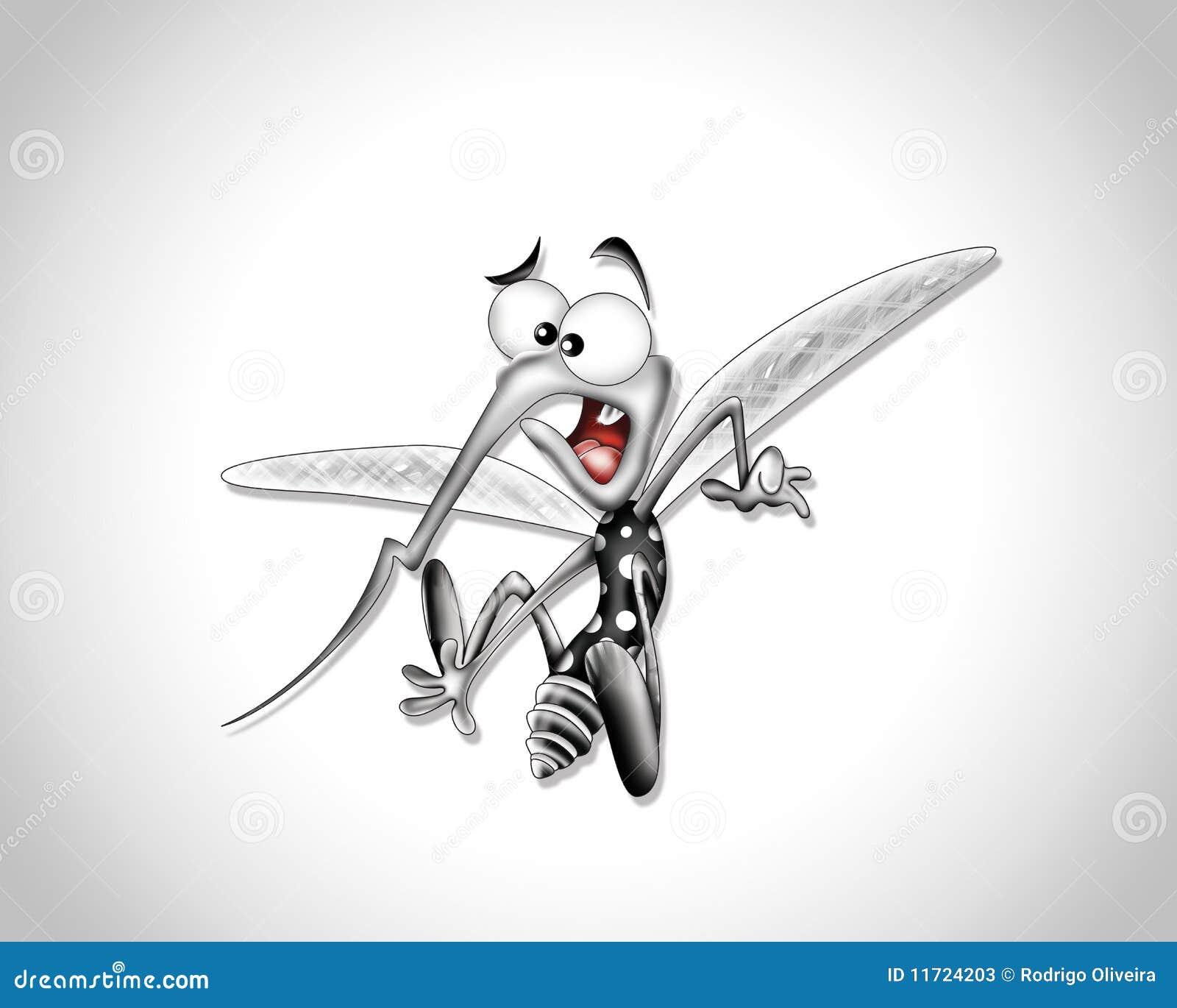 desenhos animados do mosquito ilustração stock ilustração de