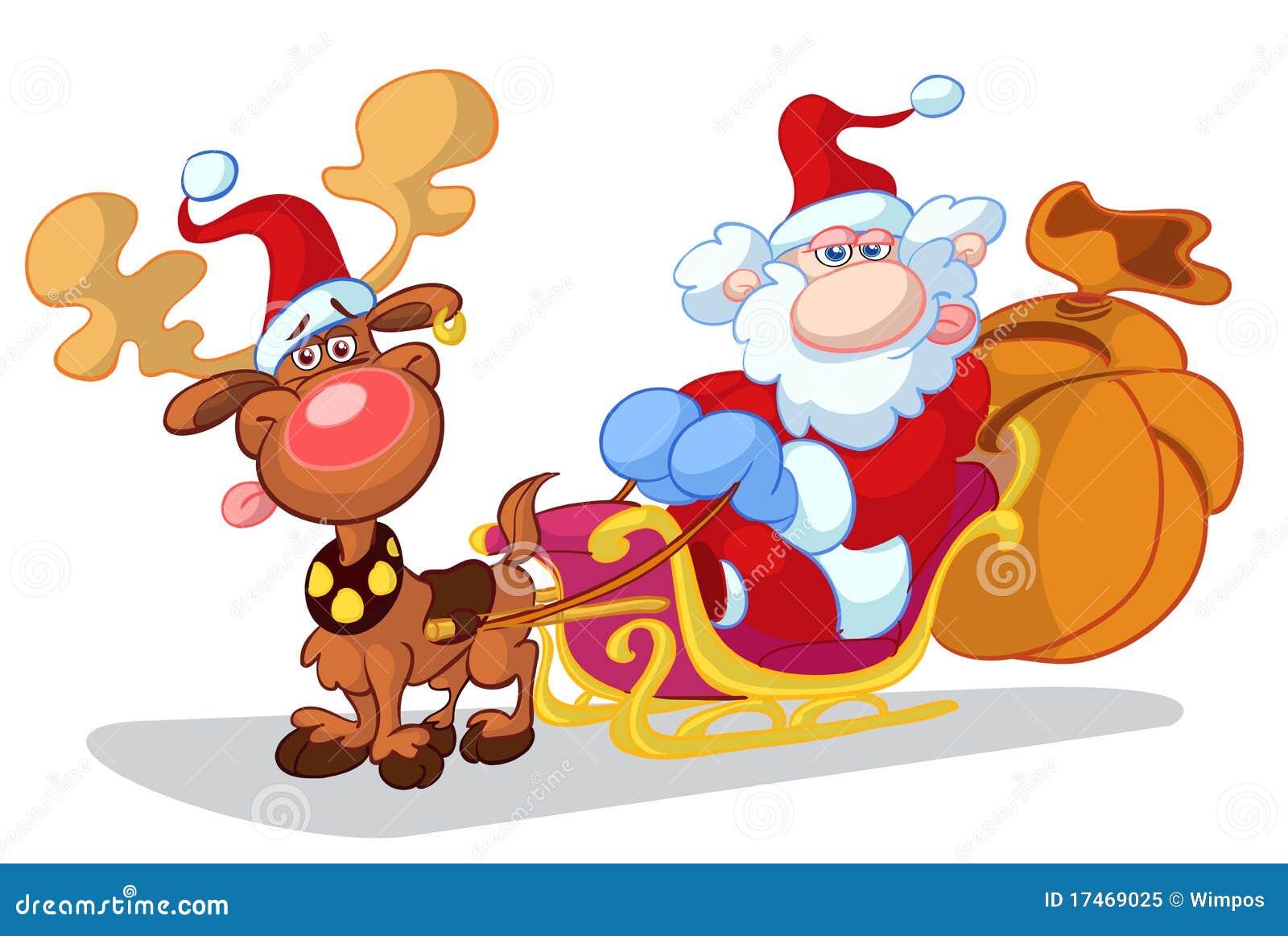 Desenhos Animados Do Natal Ilustracao Stock Ilustracao De