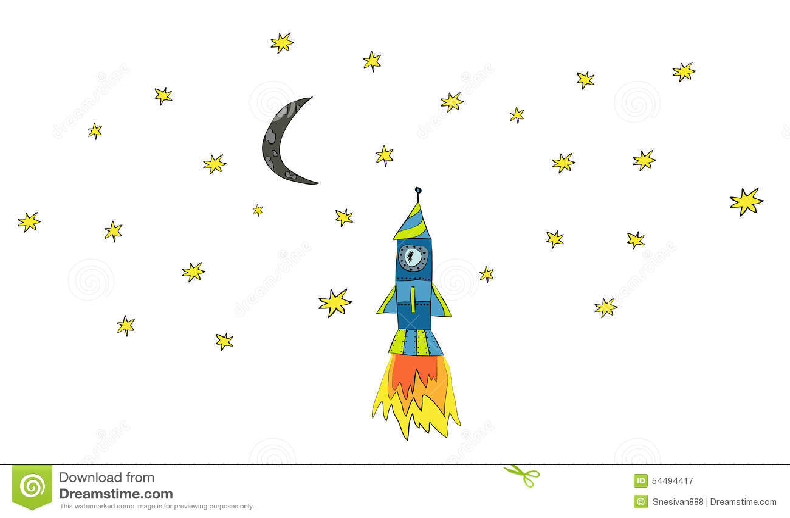 Desenhos animados do navio de espaço