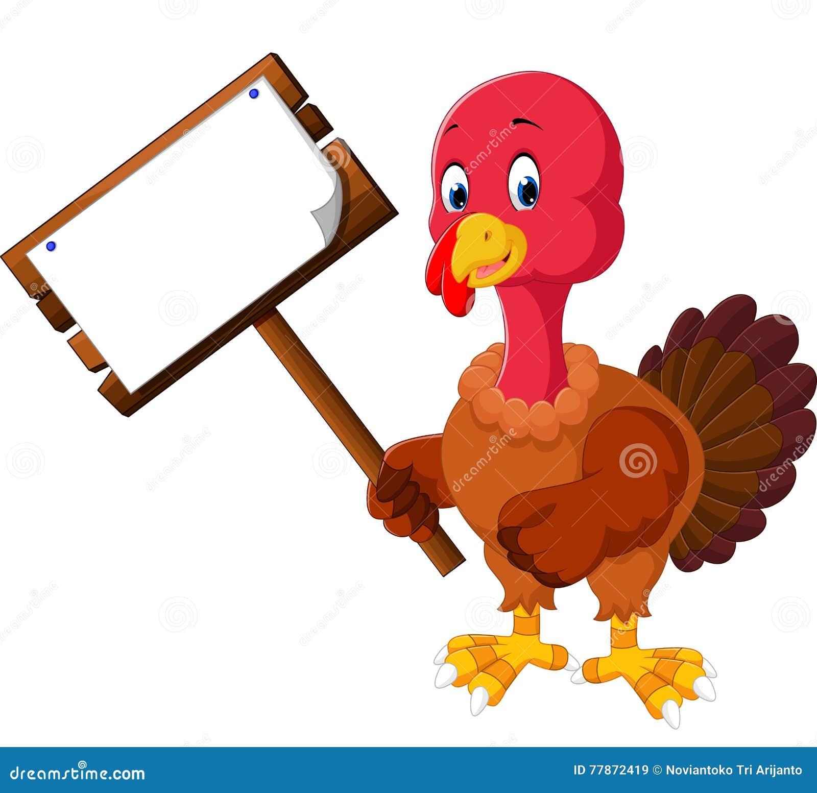 Desenhos animados do pássaro de Turquia