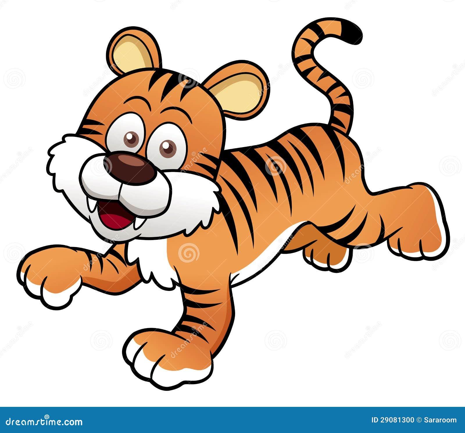 Desenhos animados do tigre vetor foto de stock imagem
