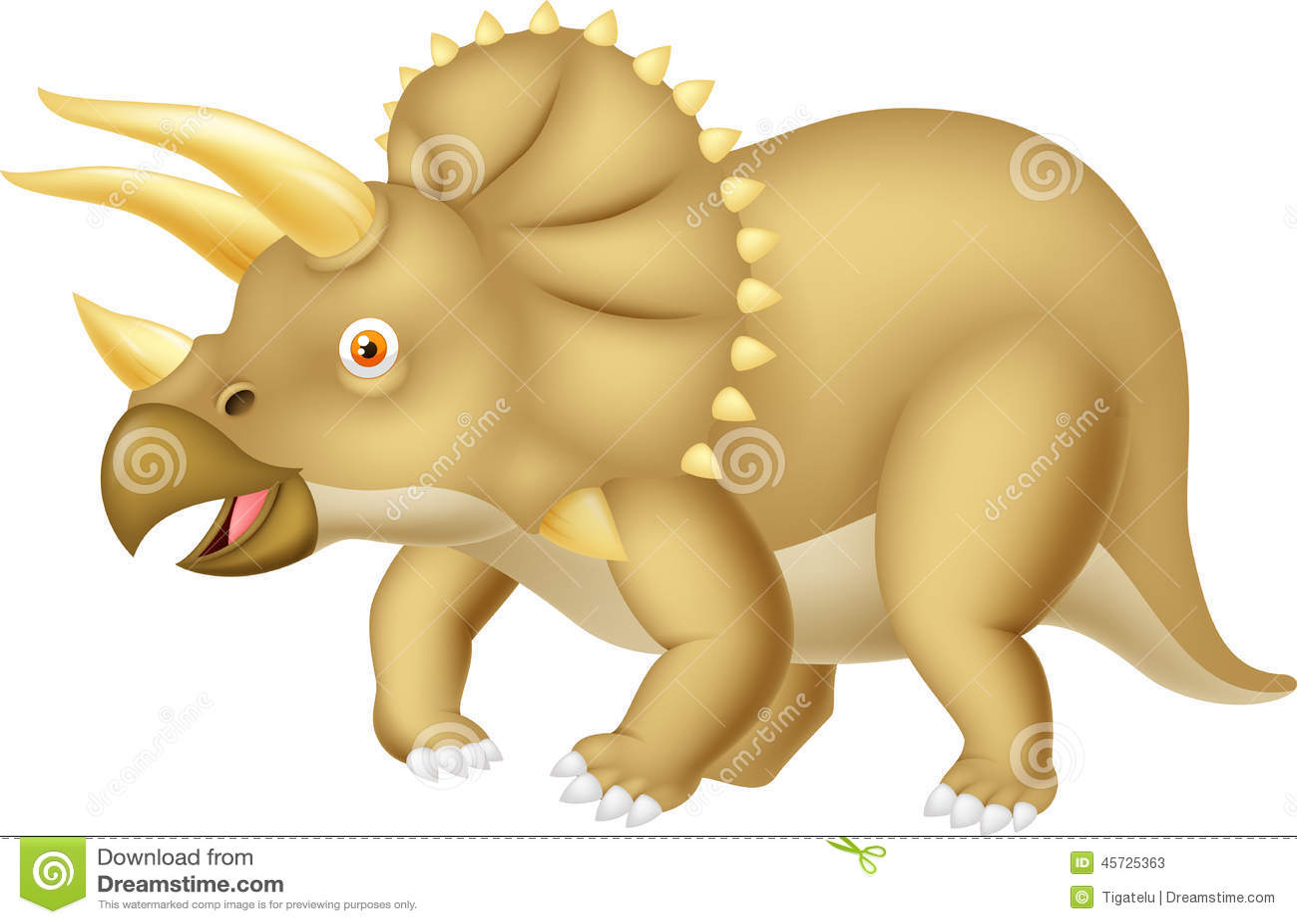 Desenhos animados do Triceratops