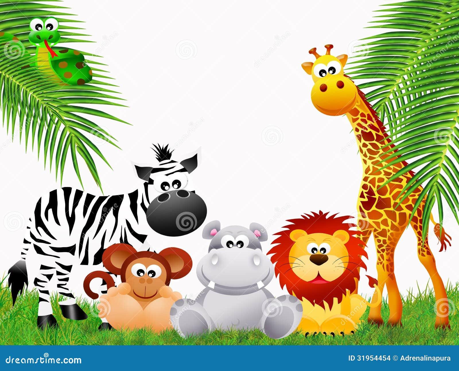 Desenhos Animados Dos Animais Do Jardim Zoológico Imagens