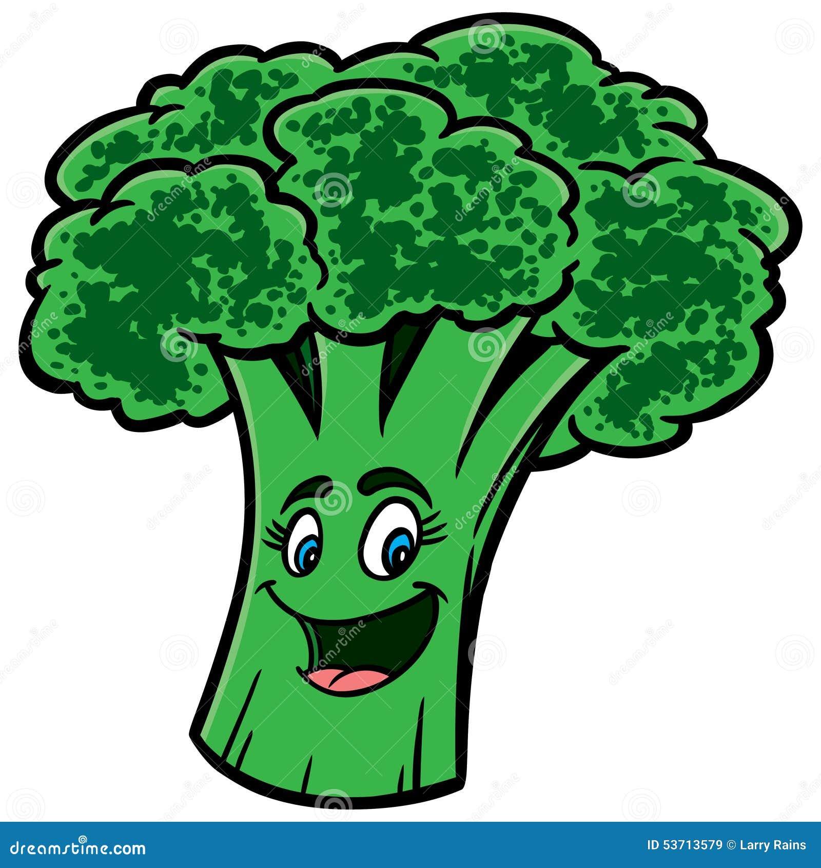 desenhos animados dos brócolis ilustração do vetor ilustração de