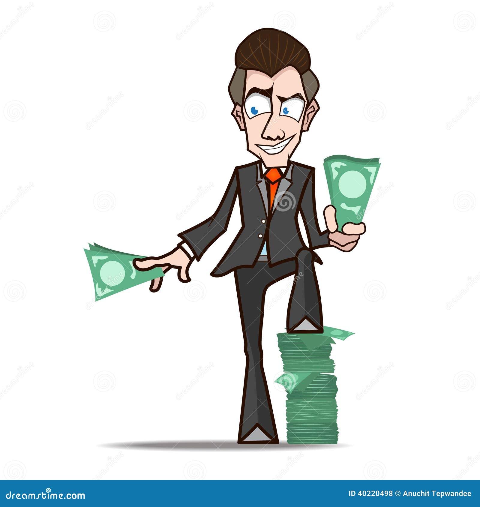 desenhos animados dos ricos de show do homem de negócios ilustração