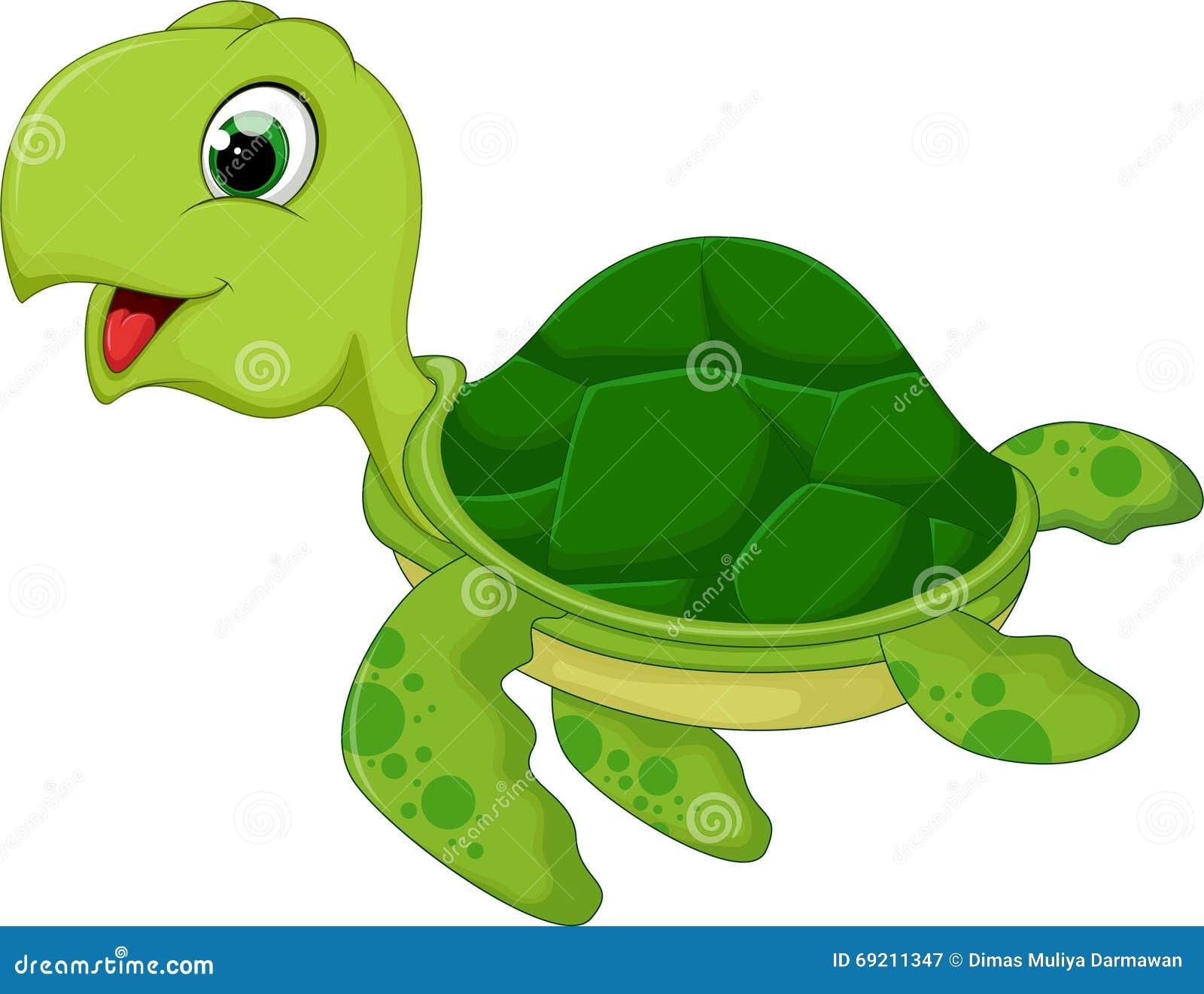 Desenhos animados engraçados da tartaruga de mar