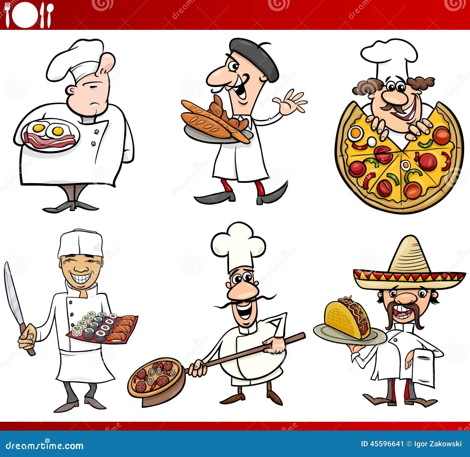 Desenhos Animados Internacionais Dos Cozinheiros Chefe Da Culinária  #C00505 1300 1281