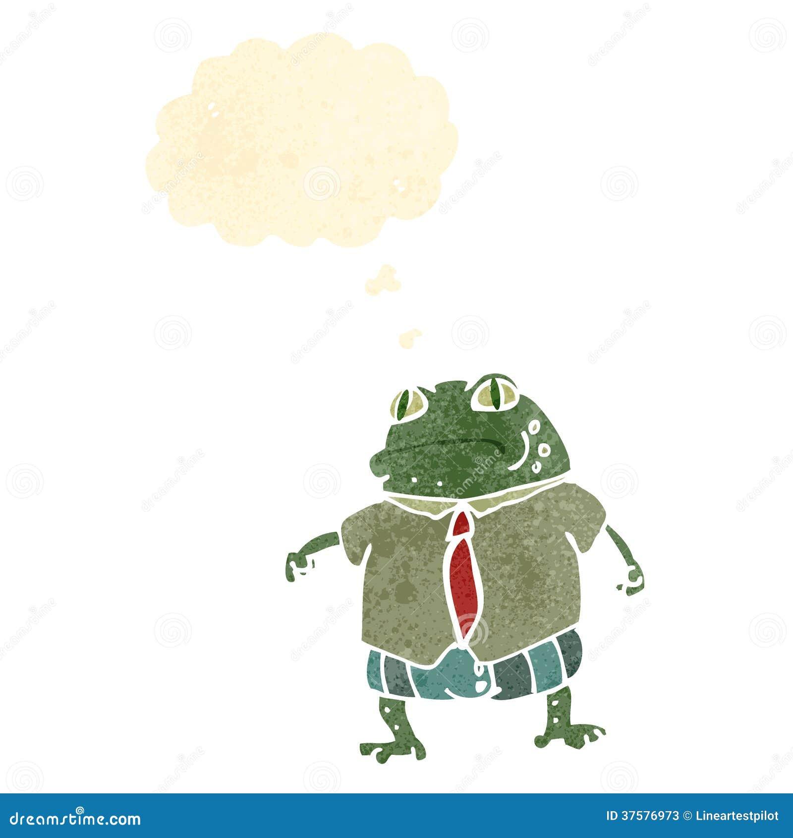 Desenhos Animados Retros Do Chefe Do Sapo Ilustração Do