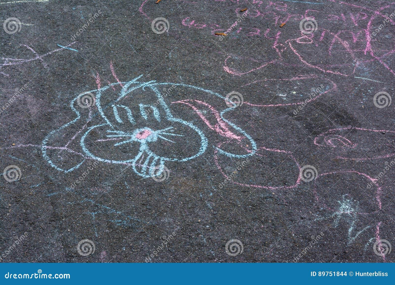 Desenhos de giz Asphalt Concrete Outdoors Public Urban das crianças P
