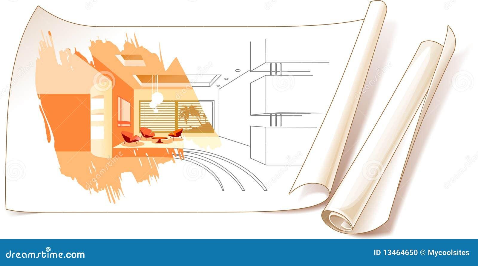 Desenhos de projeto interior foto de stock imagem 13464650 for Interior house design clipart