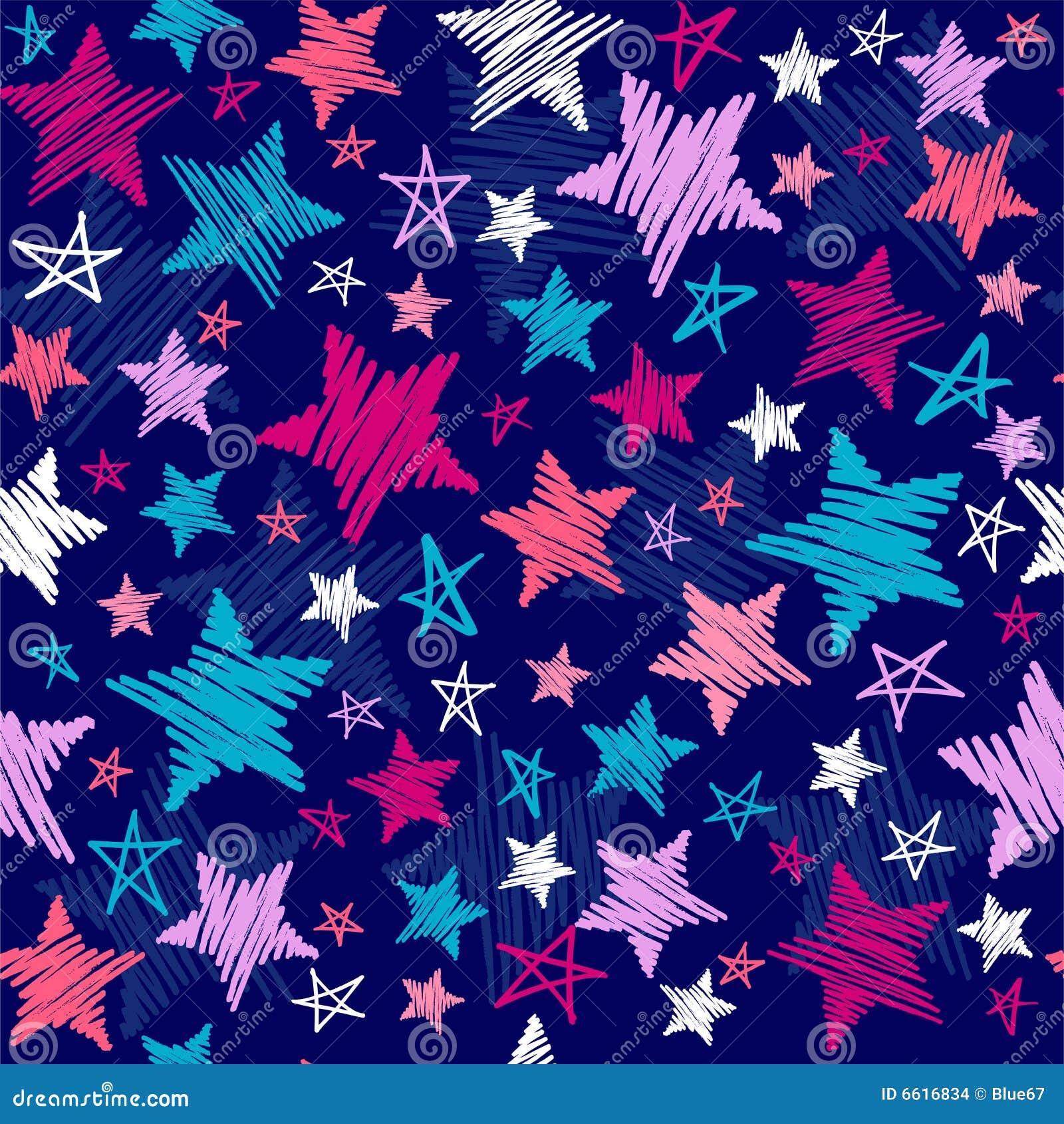 Deseniowe szkicowe gwiazdy