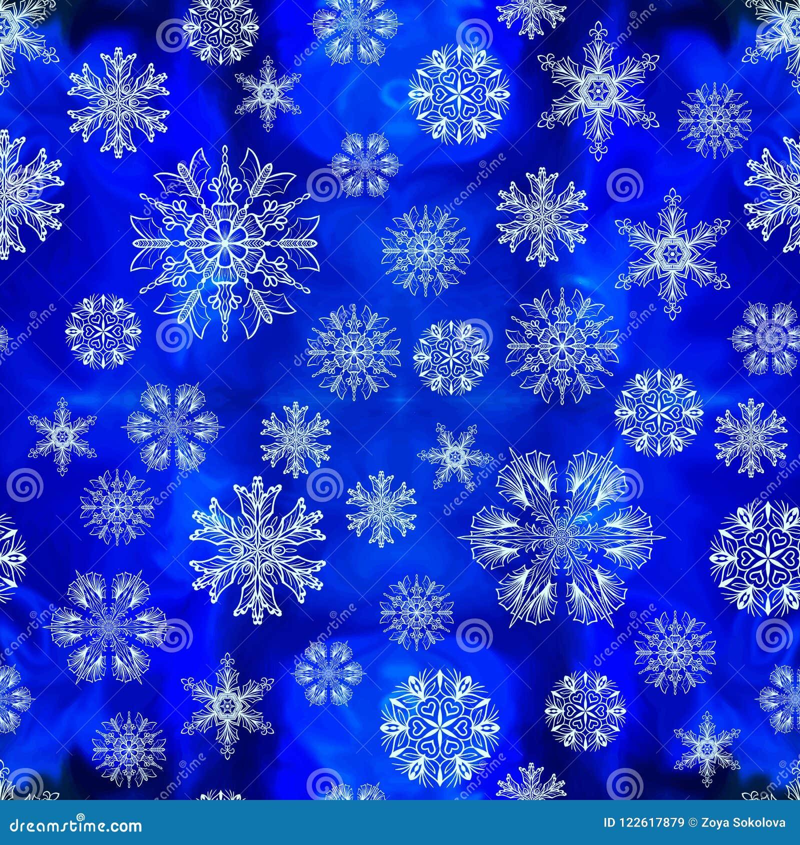 Deseniowi bezszwowi płatek śniegu