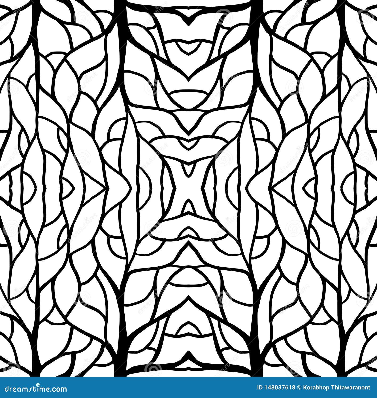 Deseniowy ilustracja korzenia centrum dla tkaniny i druk wysokiej mody