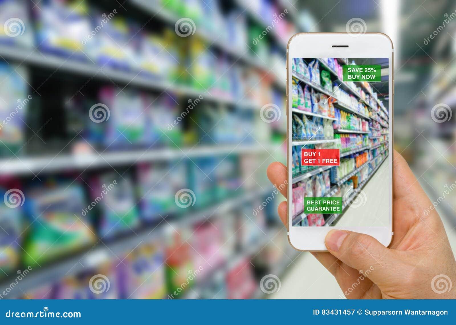Desenvolvimento da realidade aumentada no conceito do negócio de retalho na SU