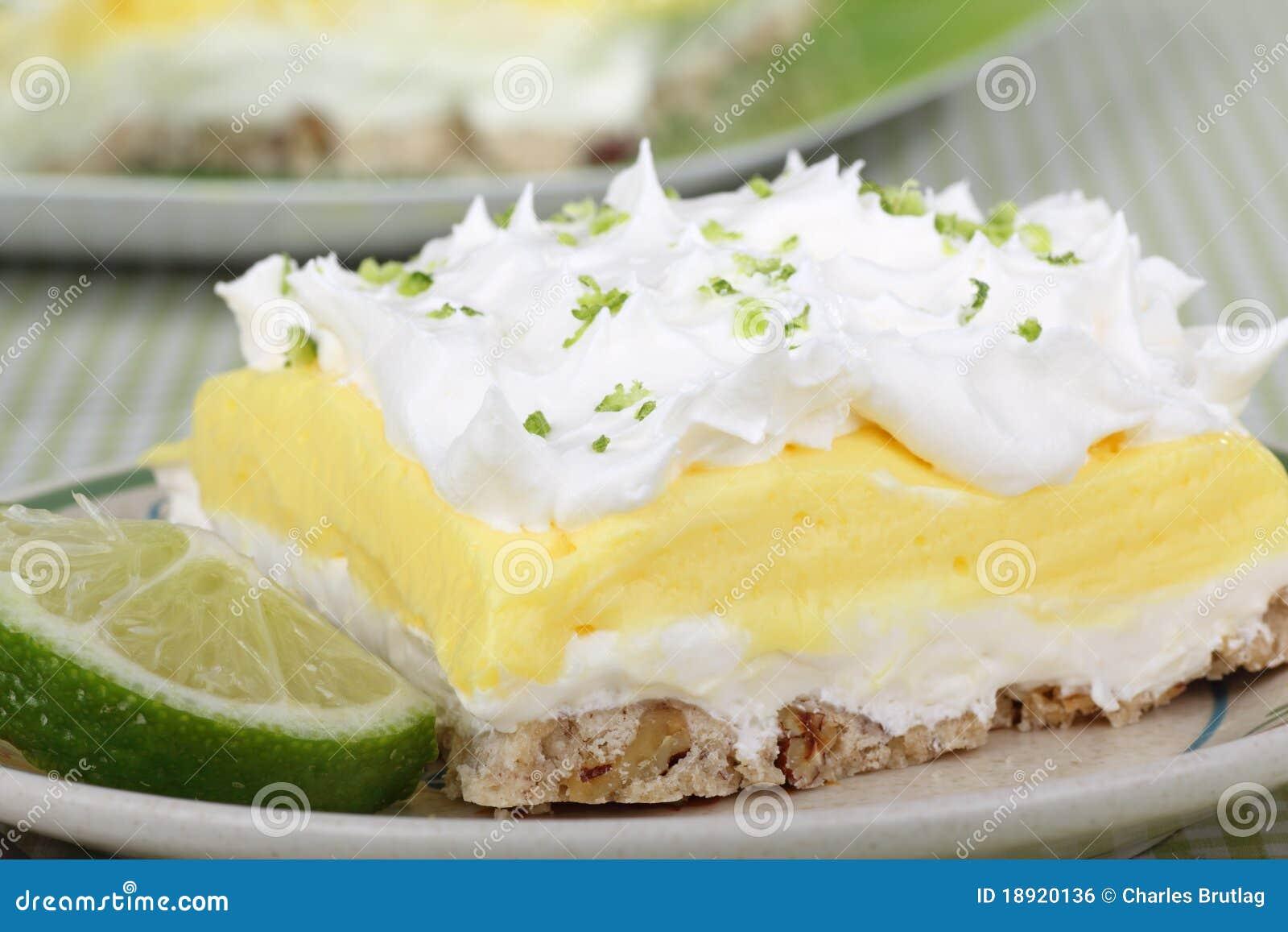 Deserowy cytryny wapna pudding