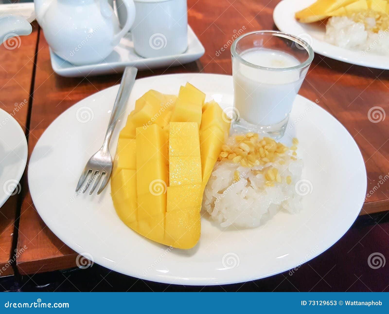 Deserowy mangowy ryżowy kleisty