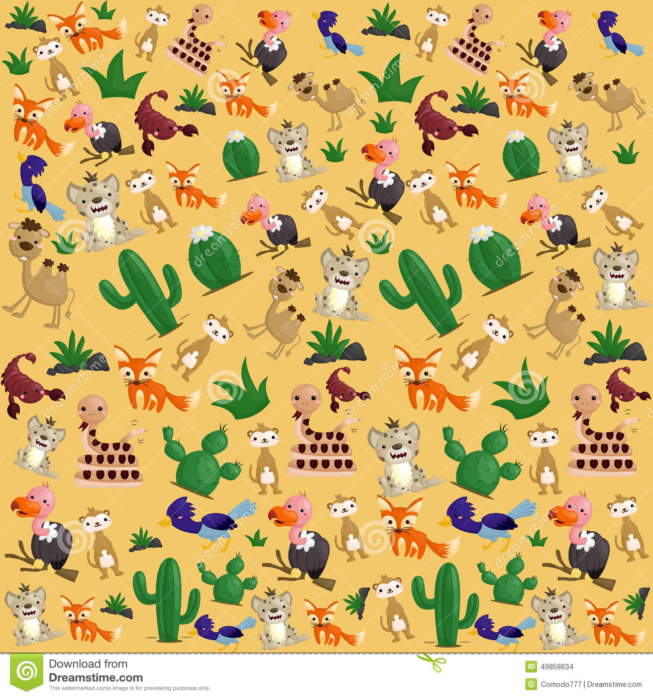 Desert animal Background