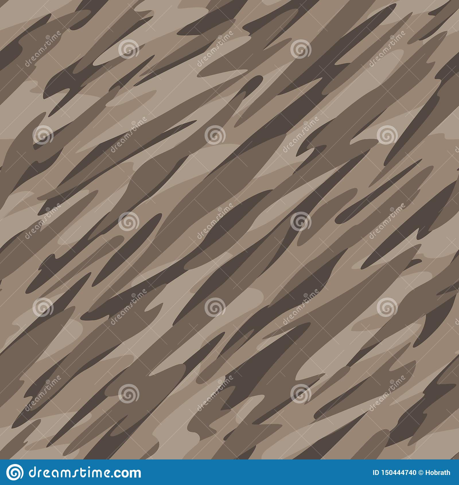 Desert Camouflage Abstract Seamless Repeating Pattern Vector Illustration