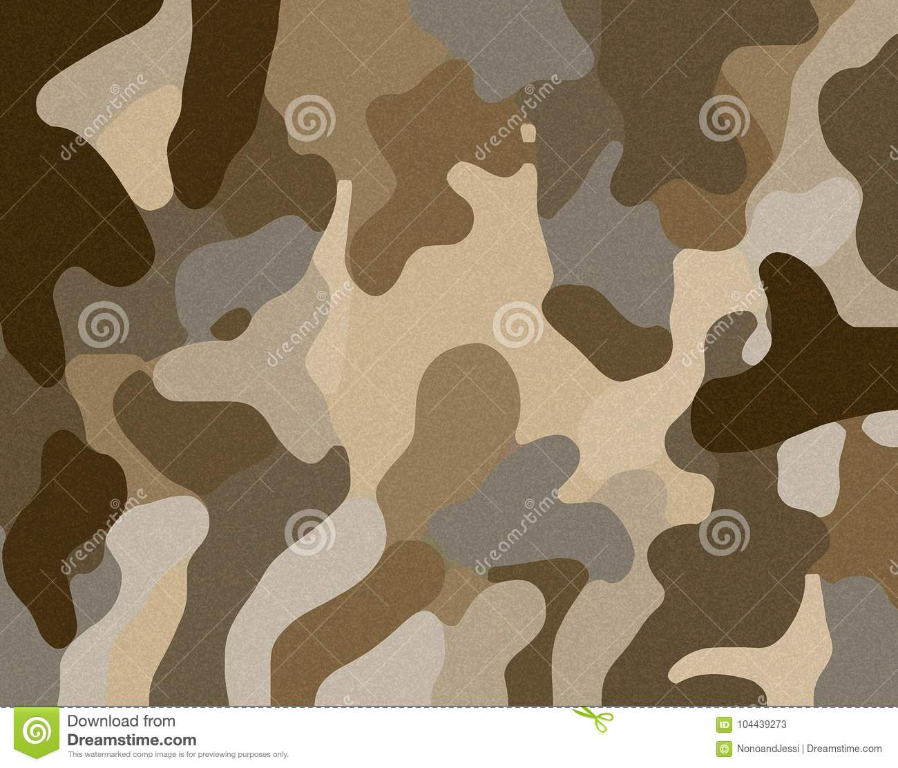 Desert camouflage sand illustration