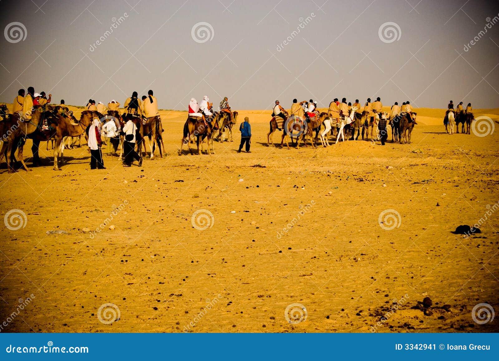 Desert Caravan Stock Image - Image: 3342941