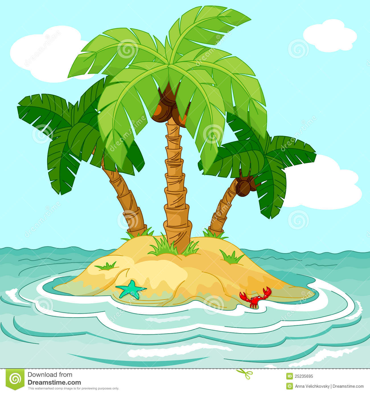 Desert Island Royalty Free Stock Photo - Image: 25235695