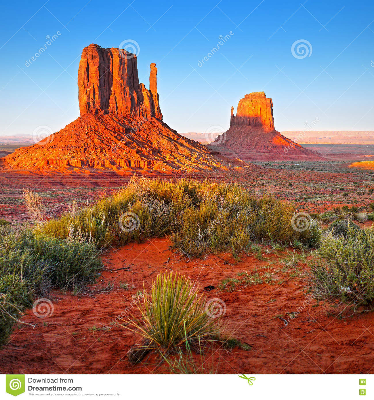 Desert Landscape in Arizona, Monument Valley - Desert Landscape In Arizona, Monument Valley Stock Image - Image Of
