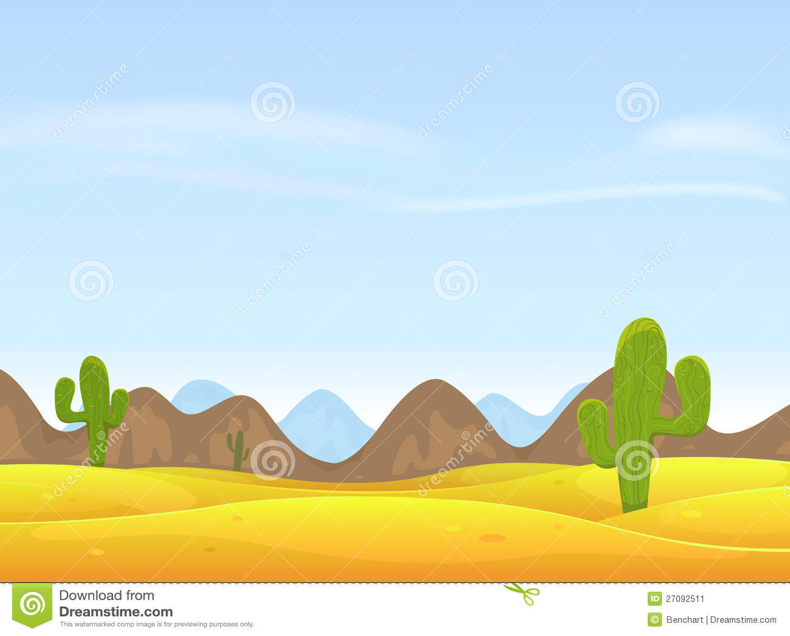 Desert Landscape Background Western Desert Clipart