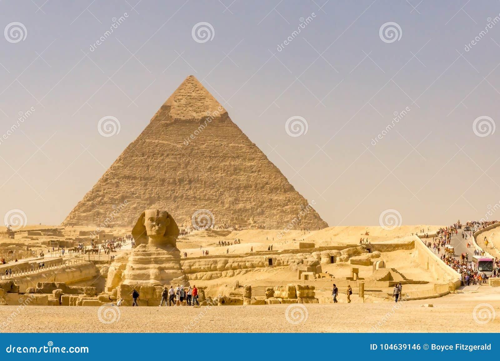 Landscape of the pyramids in Giza, Egypt