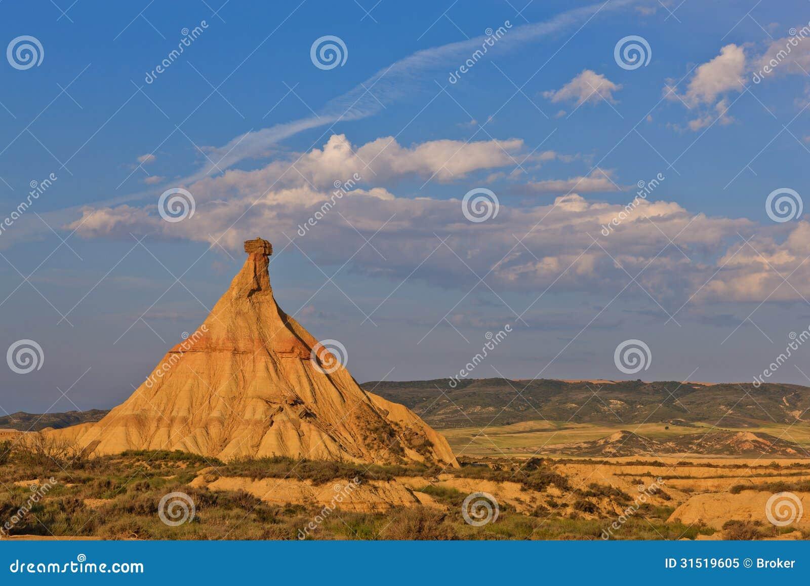 Desert landscape under the sunset colors