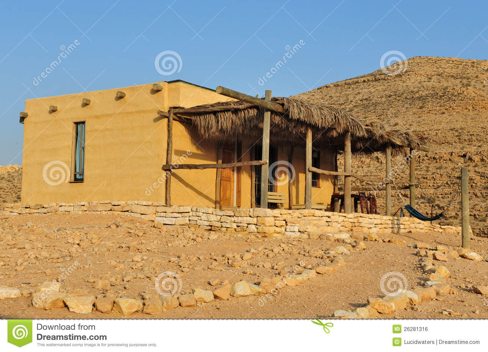 Desert lodge in israel royalty free stock image image - Casas del desierto ...