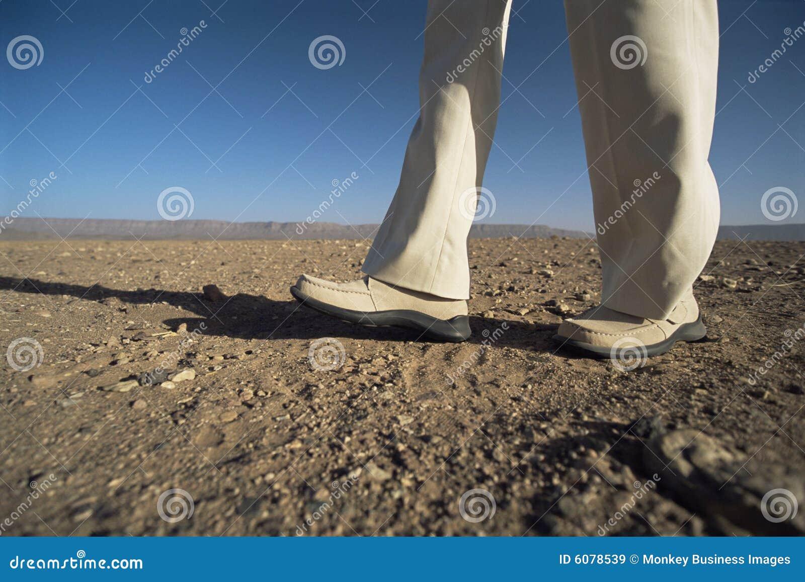 Desert low man section walking
