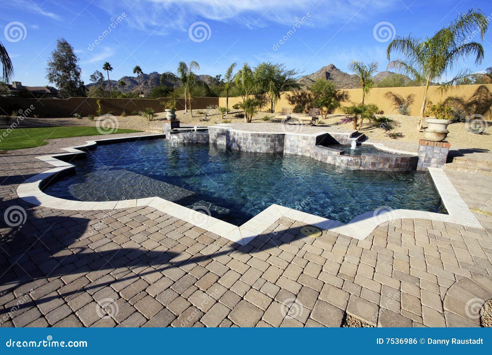 Desert luxury pool spa
