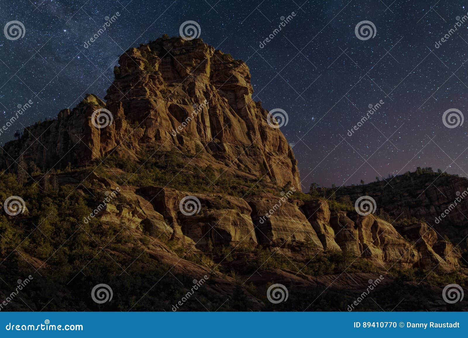 Desert Mountain Evening Stars