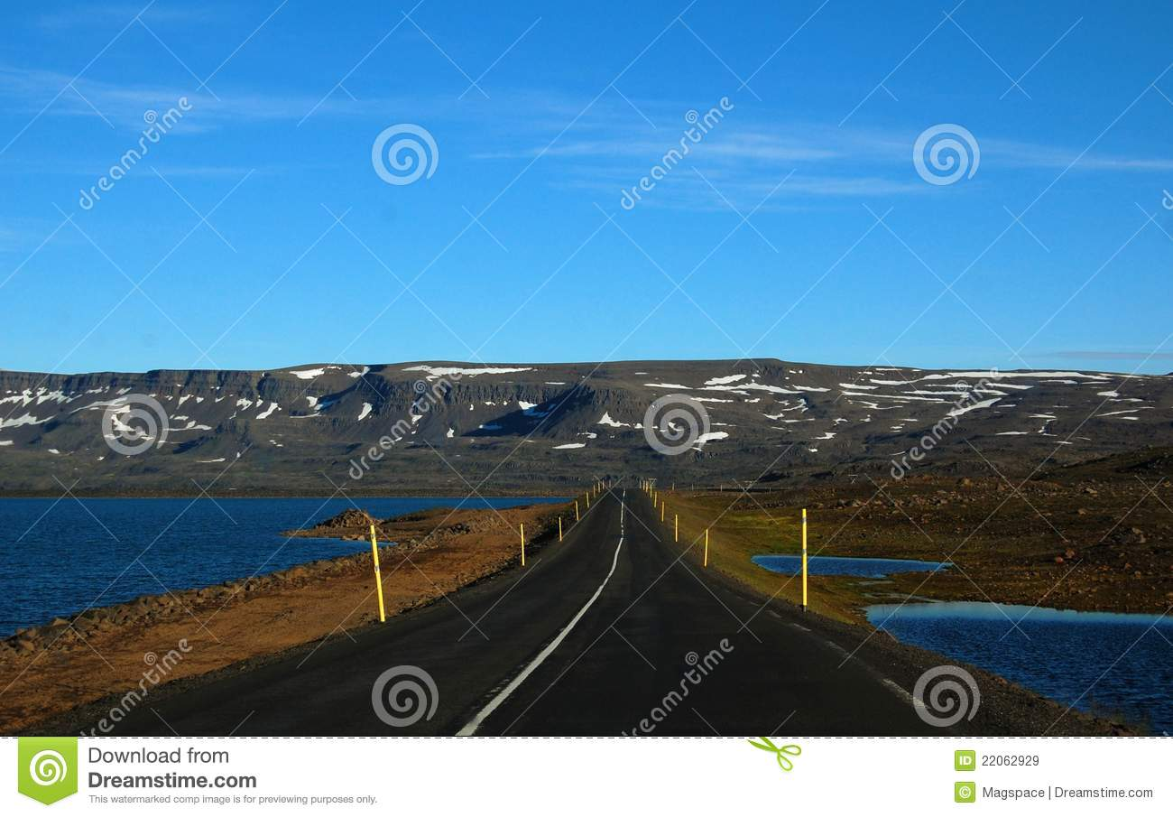 Desert Road N1 In Iceland Royalty Free Stock Images