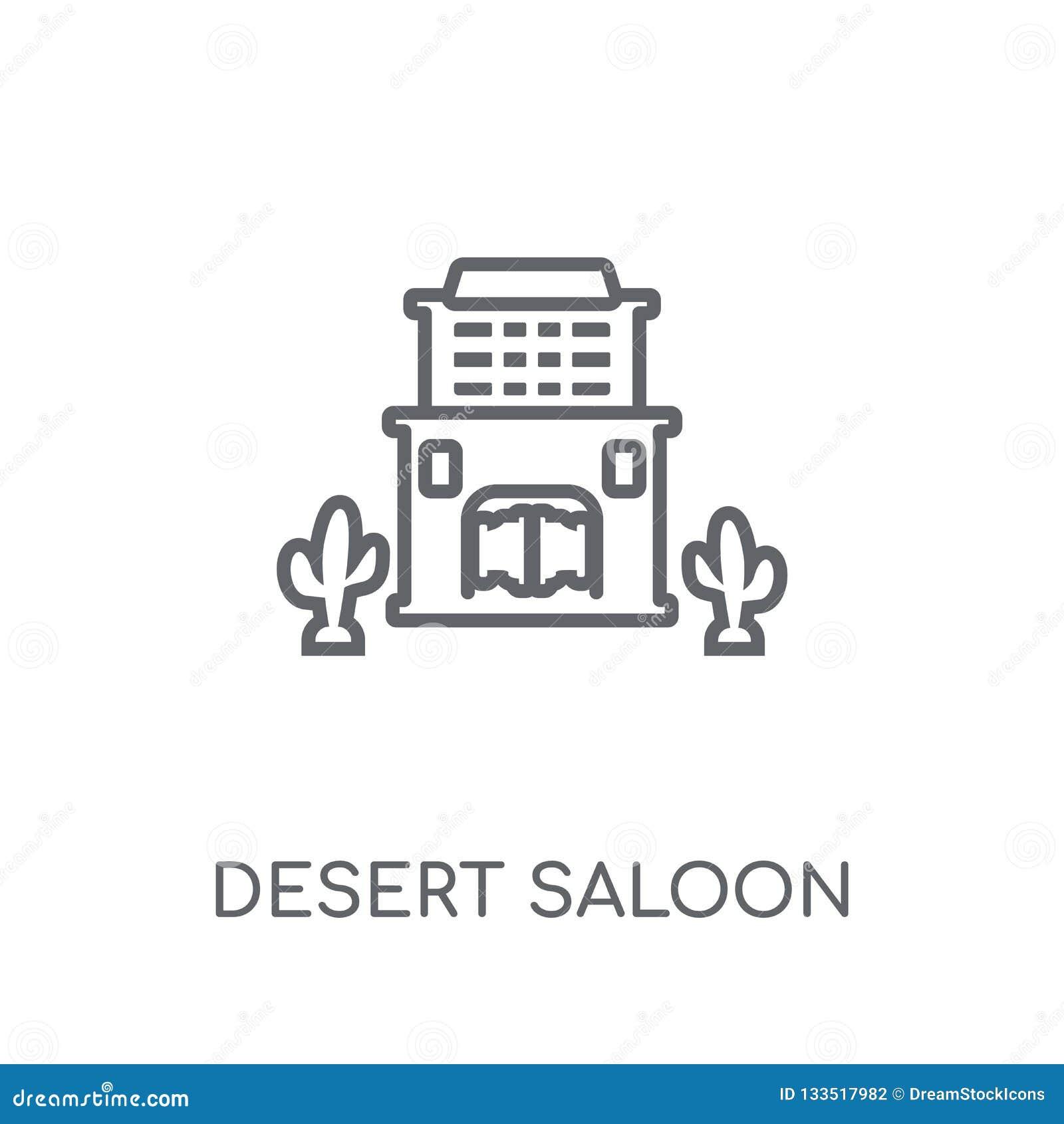 Desert saloon linear icon. Modern outline Desert saloon logo con