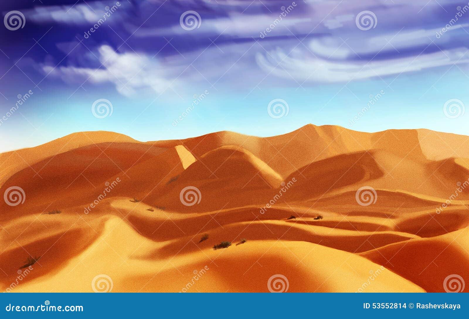 Desert sand, digital drawing