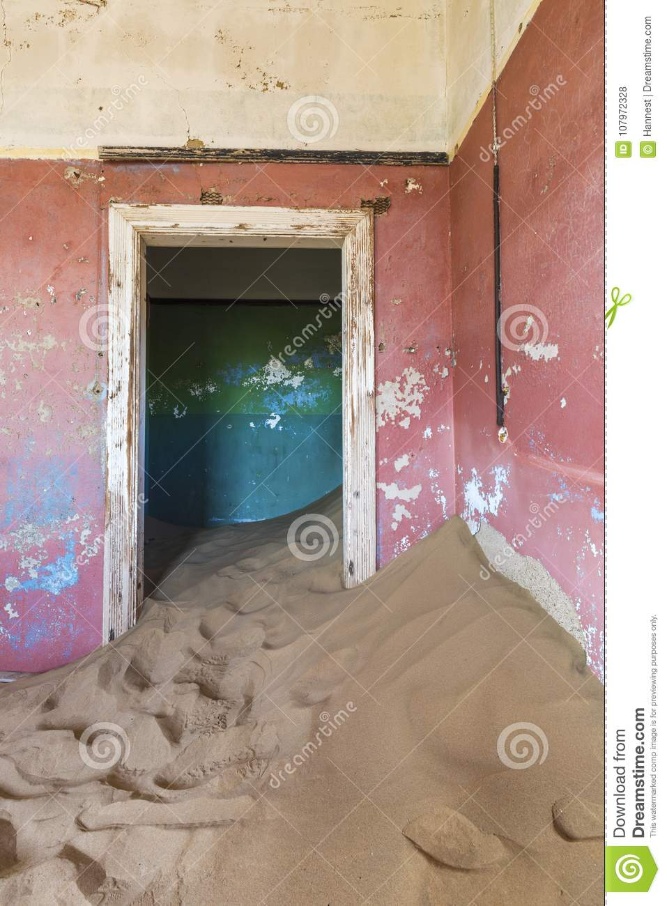 Desert Sand Filling Up The Building Stock Photo - Image of