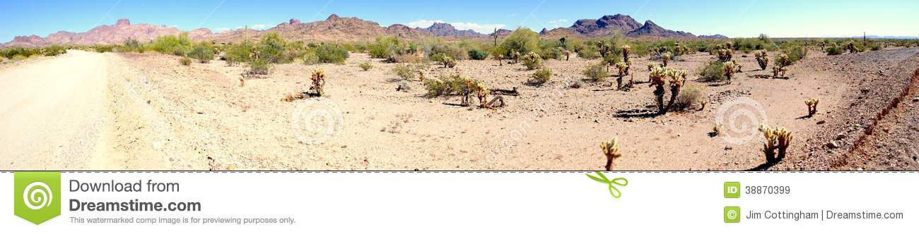 Desert scenic panorama stock photo image 38870399 for Landscaping rocks yuma az