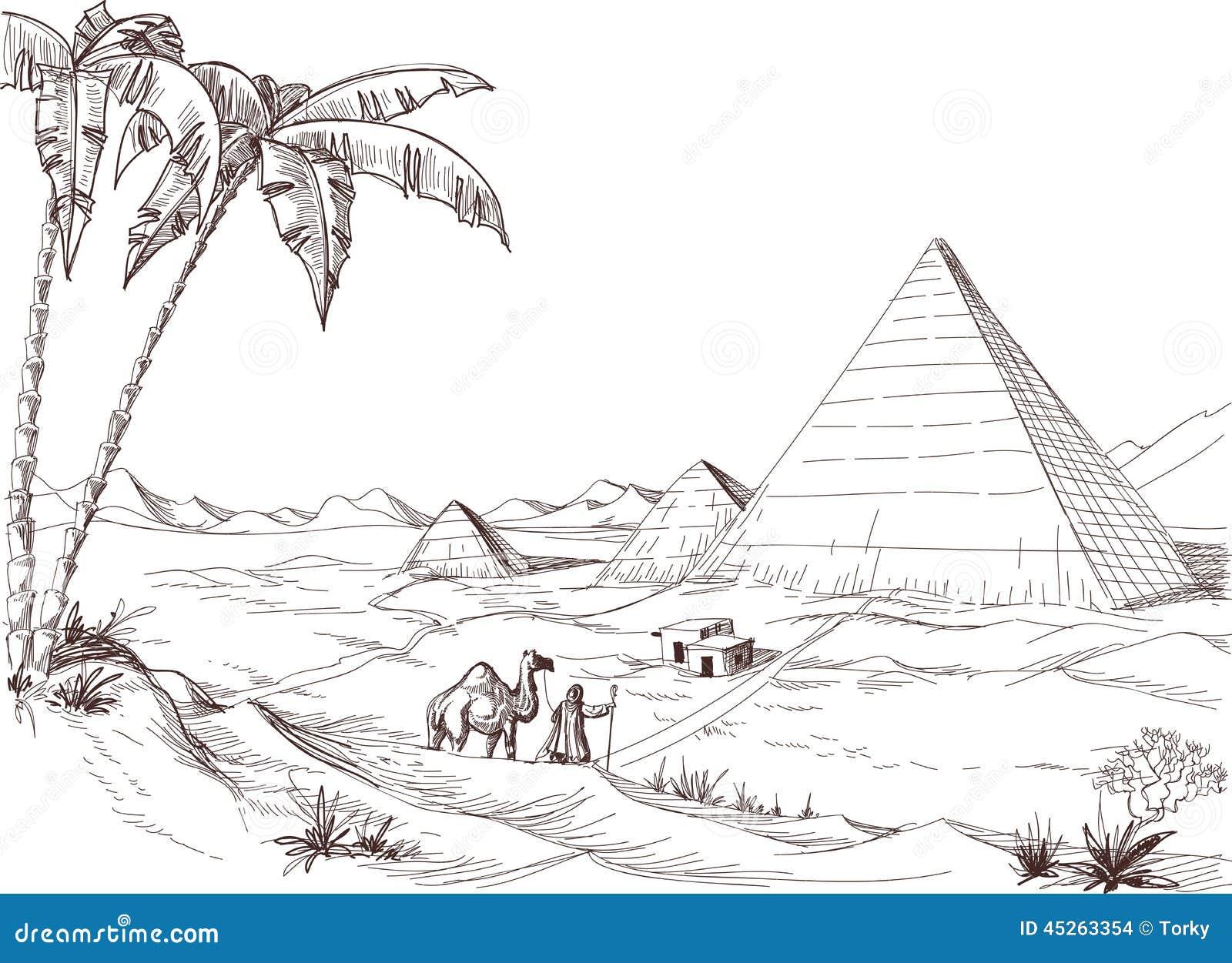 Desert Sketch Stock Vector Image 45263354