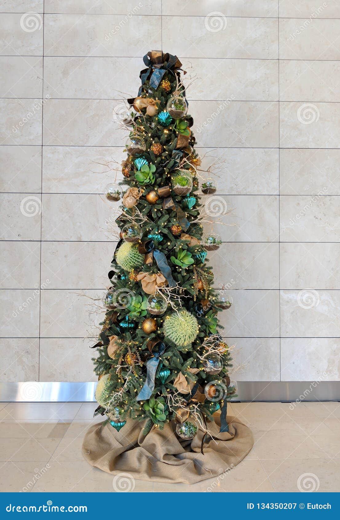 Desert Style Christmas Tree Stock Image Image Of Reflective