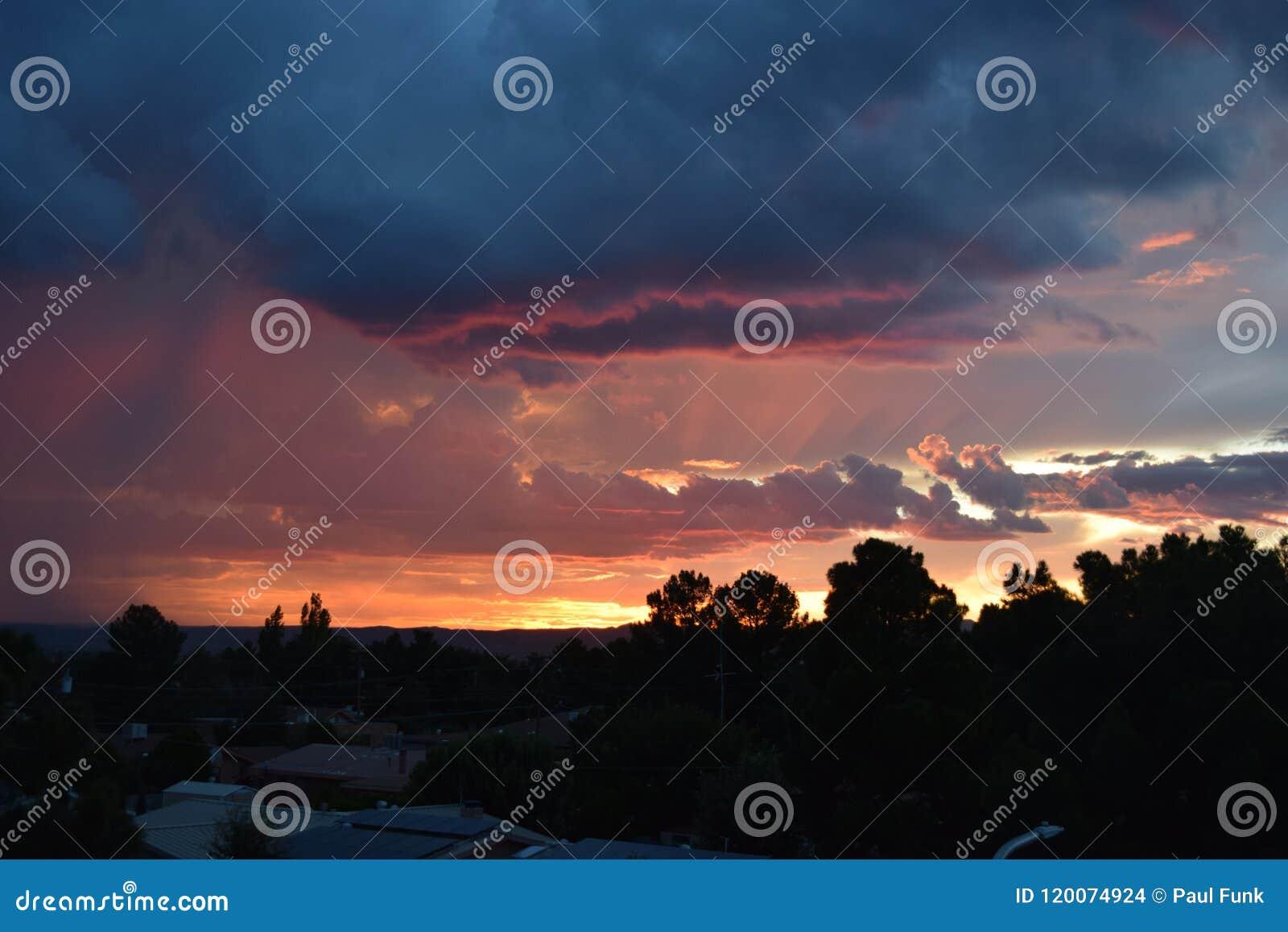 Desert sunset New Mexico