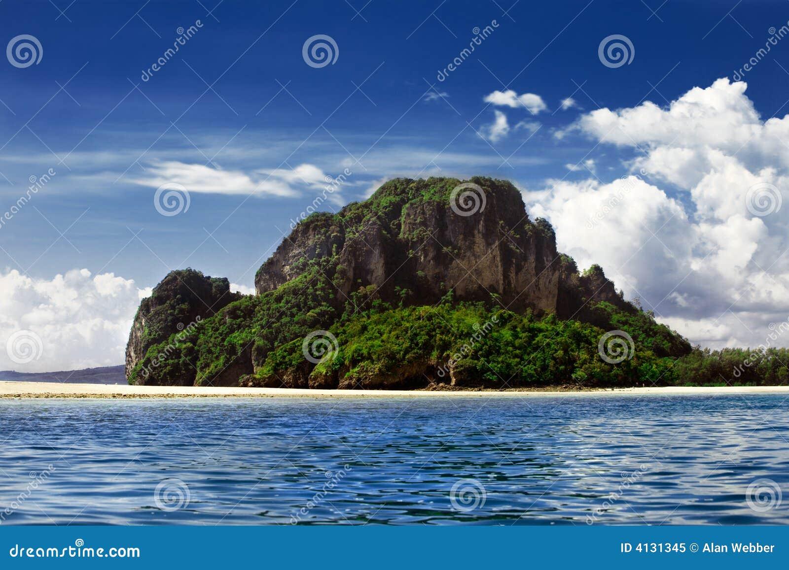 Deserted Tropical Island: Deserted Island Royalty Free Stock Photo