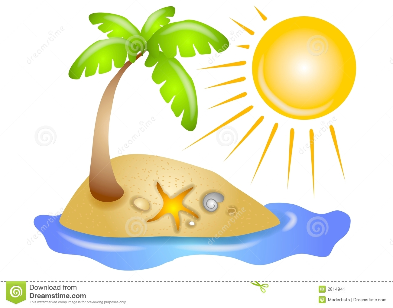 deserted island beach sun stock illustration illustration of beach rh dreamstime com free clip art beach party free clip art beach scene