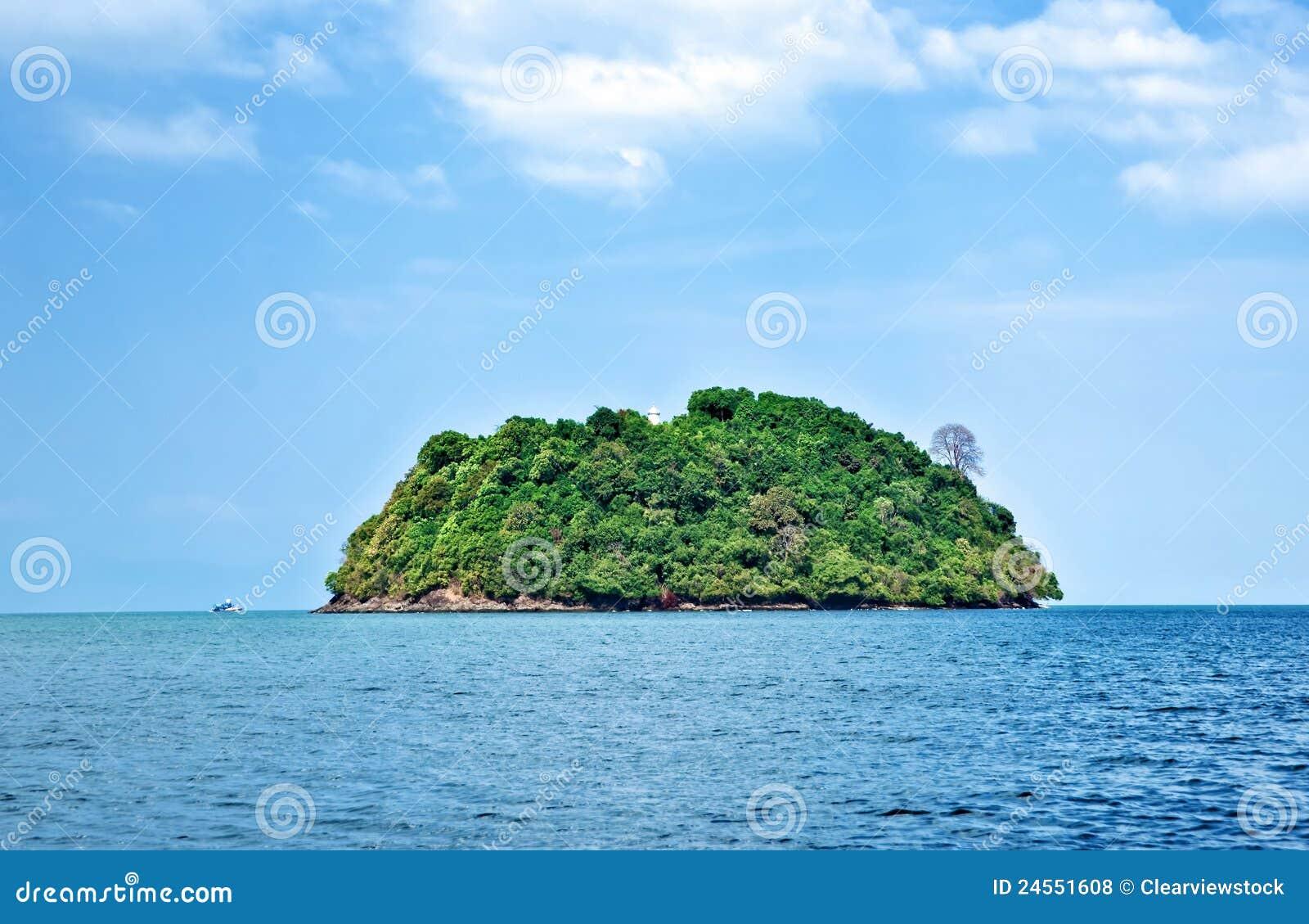 Deserted Tropical Island: Deserted Tropical Island Royalty Free Stock Photos