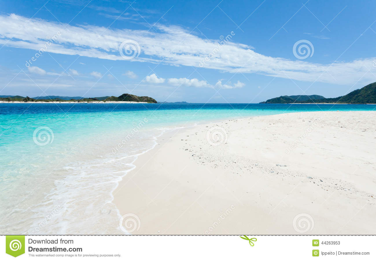 Deserted Tropical Island: Deserted Tropical Island Beach And Clear Blue Water